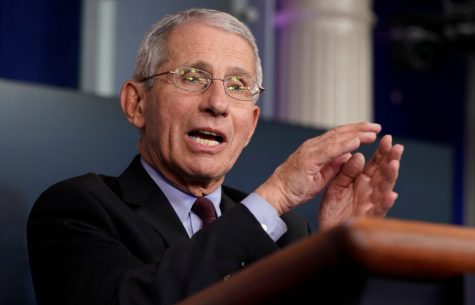 Dr. Anthony Fauci, director of the National Institute of Allergy and Infectious Diseases, speaks during the daily coronavirus task force briefing at the White House in Washington April 5, 2020.
